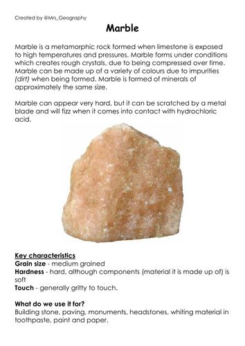 Exploring geology through food items (Rock vs food)