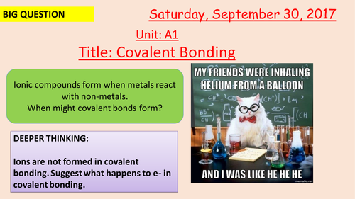 Pearson BTEC New specification-Applied science-Unit 1-Covalent Bonding