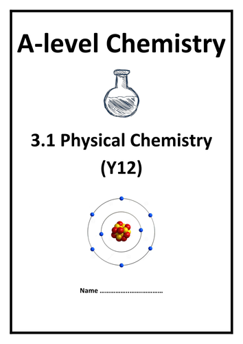 AQA A-level Chemistry Specification Checklists / Notes