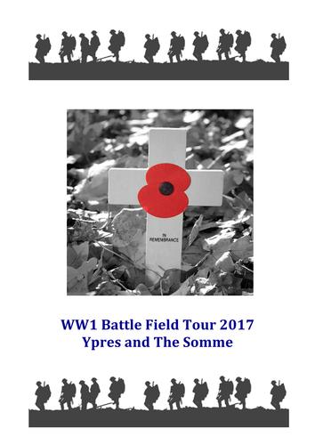 WW1 Battlefield Tour Workbook