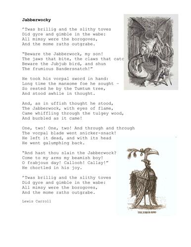 KS3 Poetry: Jabberwocky