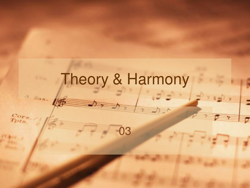 Music Theory & Harmony 3 - continuation of basic principles