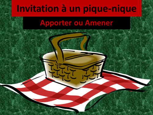 Apporter ou Amener French PowerPoint