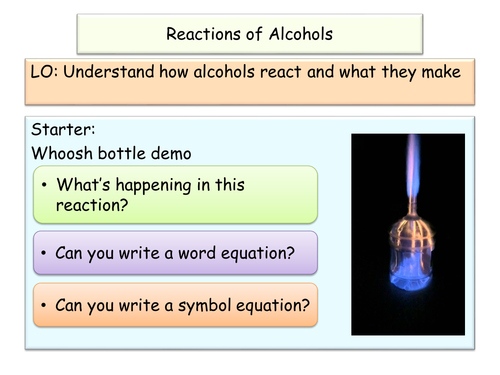 NEW AQA GCSE Chemistry Alcohol Reactions