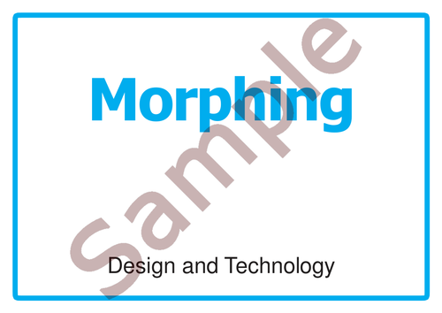 D&T Morphing Activity/Lesson Building creativity with KS3/4
