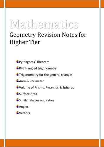 GCSE Shape & Space revision guide