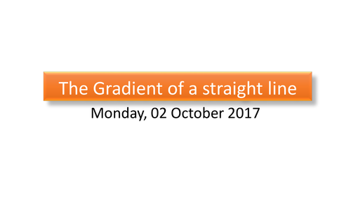 Gradient of a line and y intercept