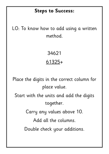 Differentiated addition calculation problems