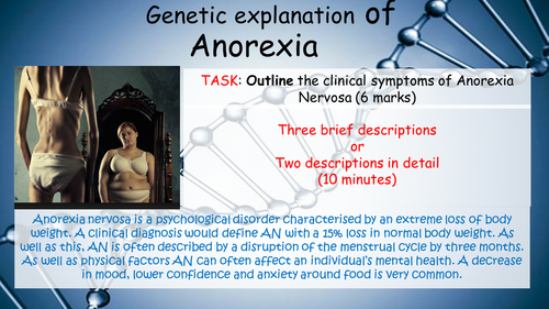 a clinical description of anorexia nervosa and its causes