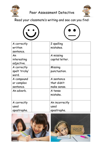 Peer Assessment Writing Checker Chart