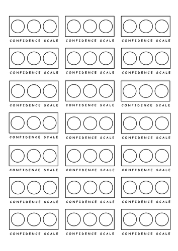 confidence scale stickers