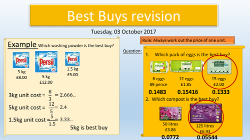 Best Buys Revision