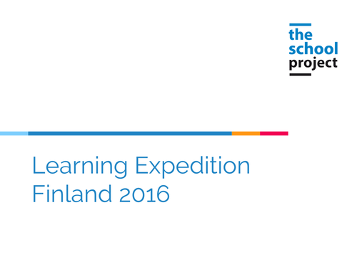 Finland learning expedition 2016