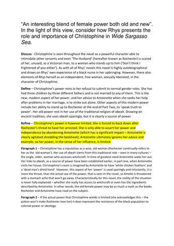 an essay plan for wide sargasso sea for wjec eduqas as  an essay plan for wide sargasso sea for wjec eduqas as specification by solaris knight teaching resources tes