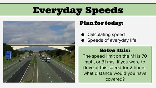 KS4 Lesson: Speed