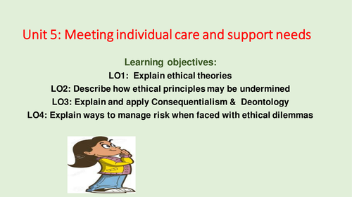 Ethical theories Unit 5: Meeting individual care and support needs [New Spec]
