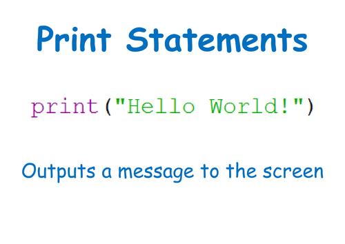 Python programming hints and tips display sheets