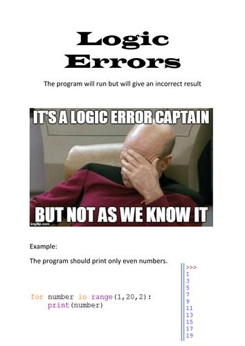 Logic Errors Display Poster