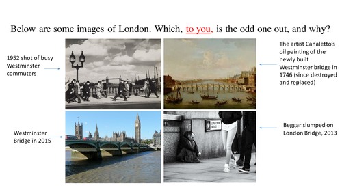 'Westminster Bridge' and 'London': detailed poetry comparison lesson series