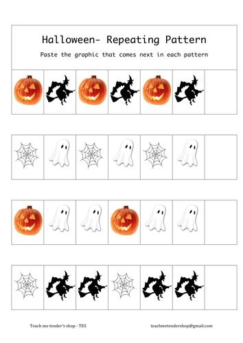Halloween. Repeating pattern