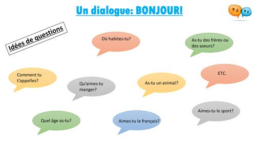 Créer un dialogue - BONJOUR!