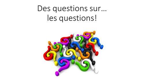 Quiz - Former une question en français
