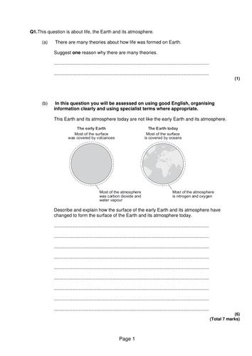 New GCSE - Greenhouse effect