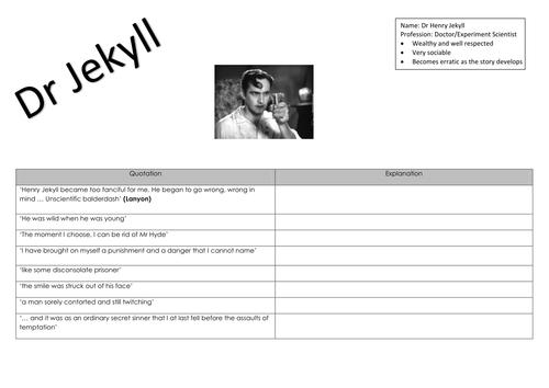 Jekyll & Hyde Quotation Bank