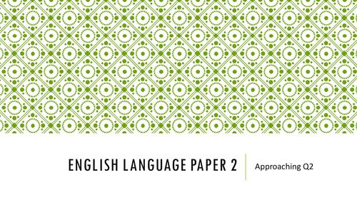 AQA Language Paper 2 SOL