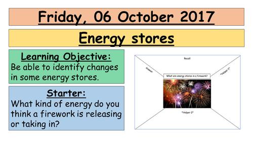 AQA GCSE (9-1) - Energy stores