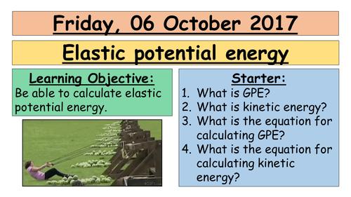 AQA GCSE (9-1) - Elastic energy