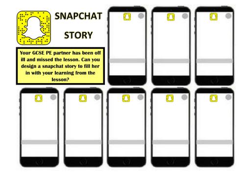 Snap Chat Starter/Plenary Sheet