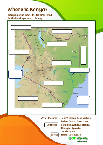 Blank world map to label continents and oceans by indigo987 kenya lesson 3 physical features of kenya gumiabroncs