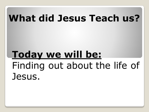 Year 2 RE lesson 1 (The Life of Jesus)