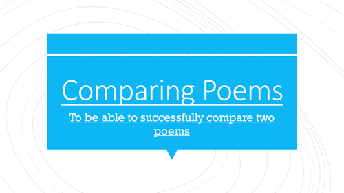 Comparing Poetry PowerPoint