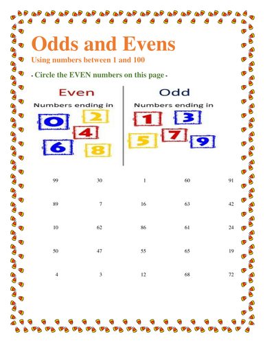 odd and even number worksheet for grade 3 students