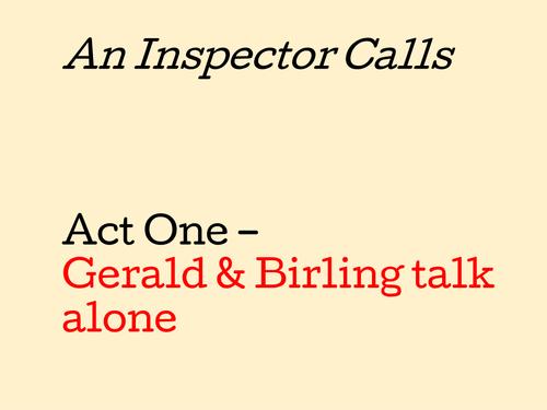 an inspector calls act one