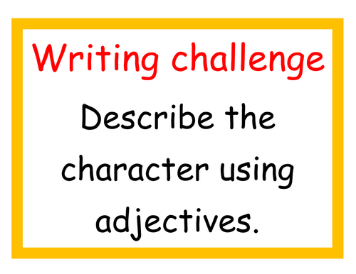 Independent writing challenges for KS1