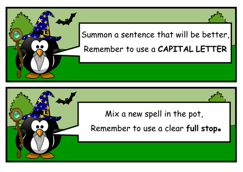 Year 1 Grammar & Punctuation Prompts