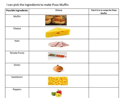Self -Assessment Recipes