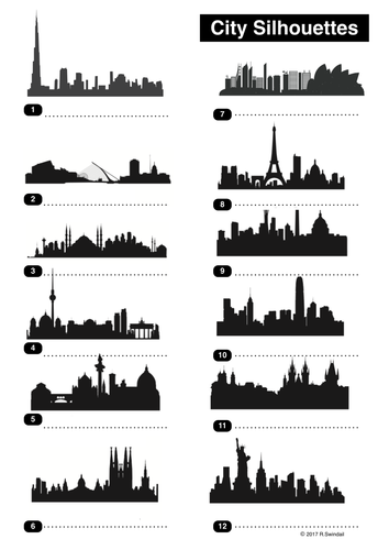 City Silhouettes - a place geography exercise