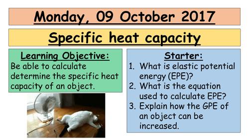 AQA GCSE (9-1) - Specific heat capacity