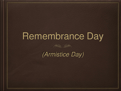 Assembly on Remembrance Day