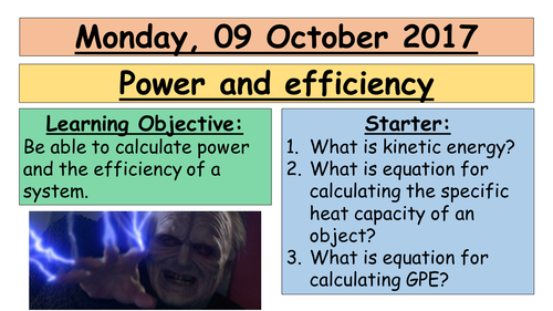 AQA GCSE (9-1) - Power and efficiency