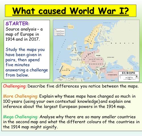 World War One: Causes