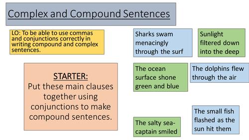 Complex and Compound Sentences