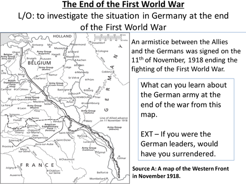 *Full Lesson* Lesson 2: Dolchstoss and the Treaty of Versailles