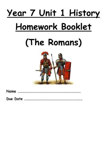 Year 7 Homework Booklet Roman Britain