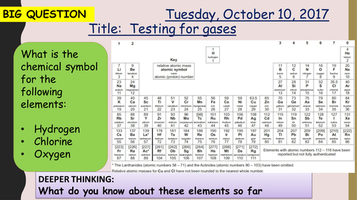 AQA new specification-Testing for gases-C10.3