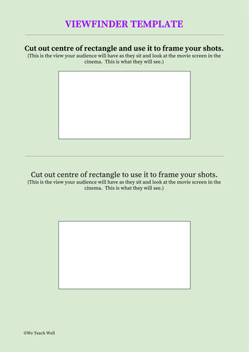 Viewfinder Template